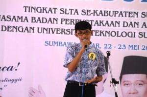 Nurfaizin Usman, Duta Baca 2014