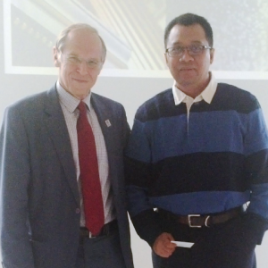 Bersama Rektor Lund University Prof Per Eriksson (Kerjasama Techno Park) di Swedia