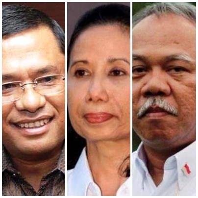 Tiga Menteri: Saleh Husin, Rini M Soemarno, dan Basuki H