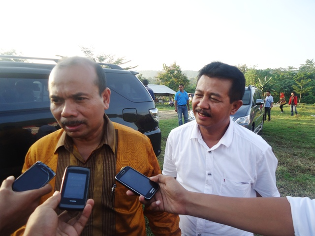 Menteri Bapenas didampingi Kadis Pertanian NTB, Ir H Mokhlis M.Si