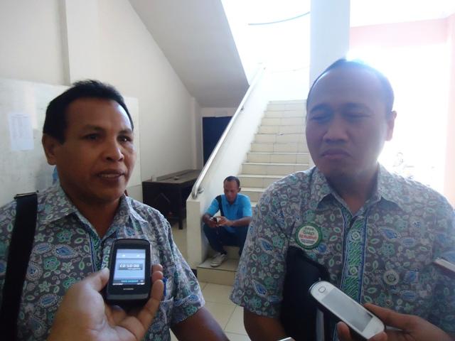 Kepala BPJS Cab Bima, M Farid dan Kepala BPJS Perwakilan Sumbawa, A Muin