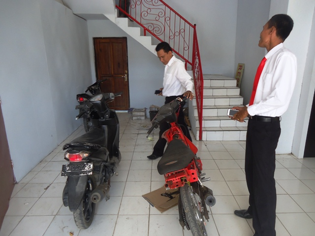 Barang bukti sepeda motor, hasil curanmor
