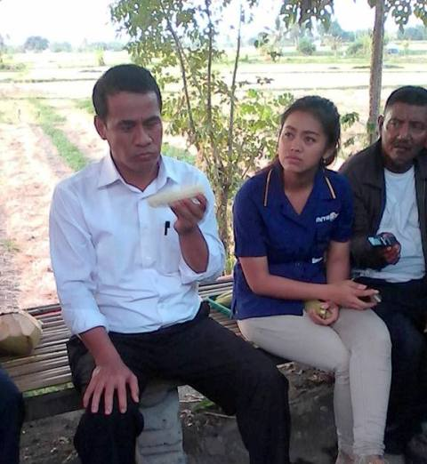Menteri Pertanian RI Mencicipi Jagung Rhee, Sumbawa