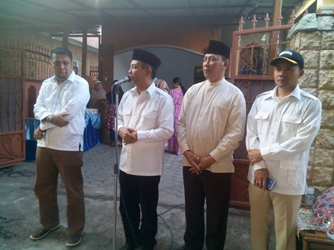 Pasangan MUJUR didampingi Ketua PAN Sumbawa Burhanuddin Jafar Salam SH dan Sekretaris DPC Gerindra Sumbawa, Andi Rusni SE