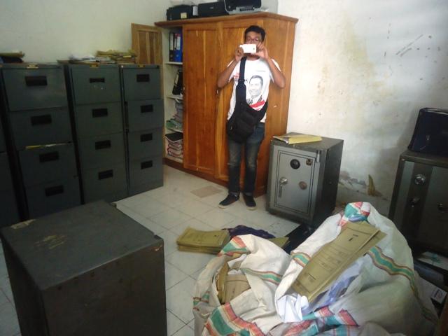 Ruang Brankas yang sempat dimasuki perampok