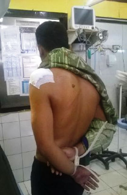 Saparuddin Saat Dirawat di RSUD Sumbawa pasca tertembak