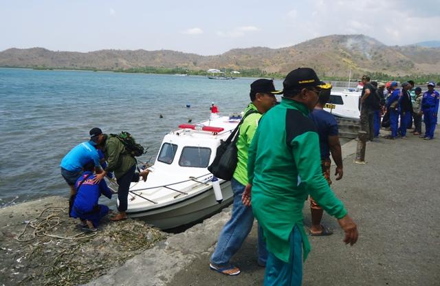 Ekspedisi finish di Pelabuhan Alas