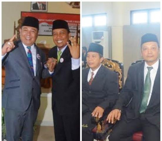 H Amir Ma'ruf Husain, S.Pd.i, MM menggantikan Fud Syaifuddin ST dari Partai PBB dan Haeron menggantikan Iwan Panjidinata SE dari Partai Gerindra.