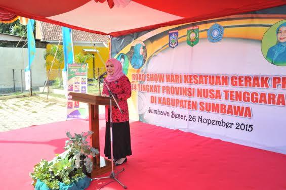 Ketua PKK NTB, Hj Erica Zainul Majdi