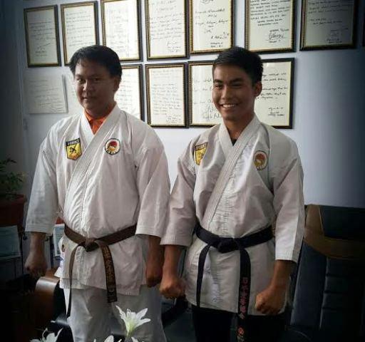 Karateka UTS, Muhammad Isro' Al-Fajri dan Adiyat Ade Putra wakili NTB di POMNAS XIV, di Nangroe Aceh Darussalam