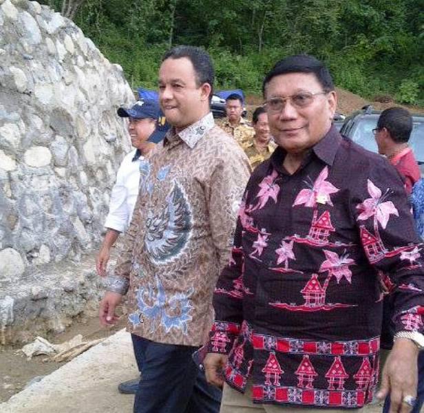 Mendikbud Anies Baswedan dan Wakil Ketua DPD RI Prof Dr Farouk Muhammad