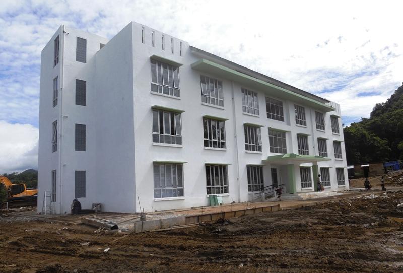 Rusunawa Ponpes Dea Malela yang pembangunannya baru mencapai 80 persen