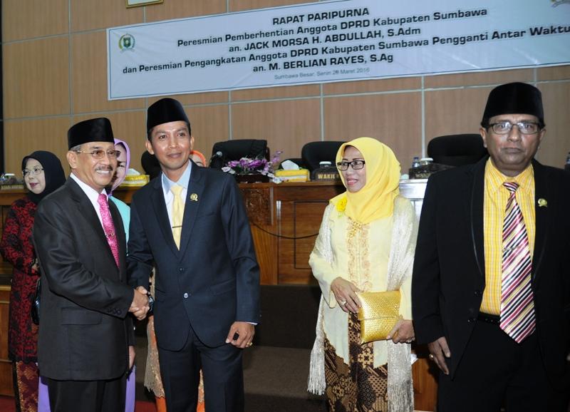 Bersama Bupati Sumbawa dan Ketua DPD Golkar Sumbawa