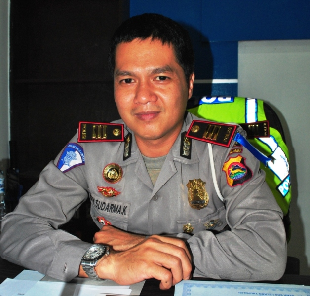 Kasatlantas Polres Sumbawa, AKP Edy Sudarma Korniawan S.Kom