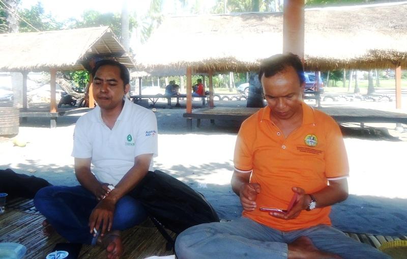 Kepala Arpusda H Syahril S.Pd M.Pd dan Miq Juned--Fasilitator