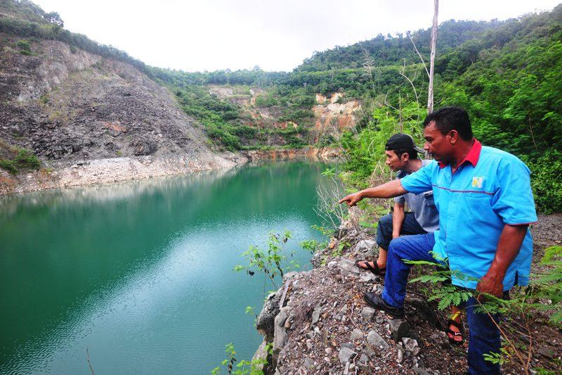 Lubang tambang emas PT Newmont Minahasa Raya (PTNMR) di Ratatotok, Manado, kini sudah menjadi danau sekaligus destinasi pariwisata Kabupaten Minahasa tenggara, Provinsi Sulawesi Utara