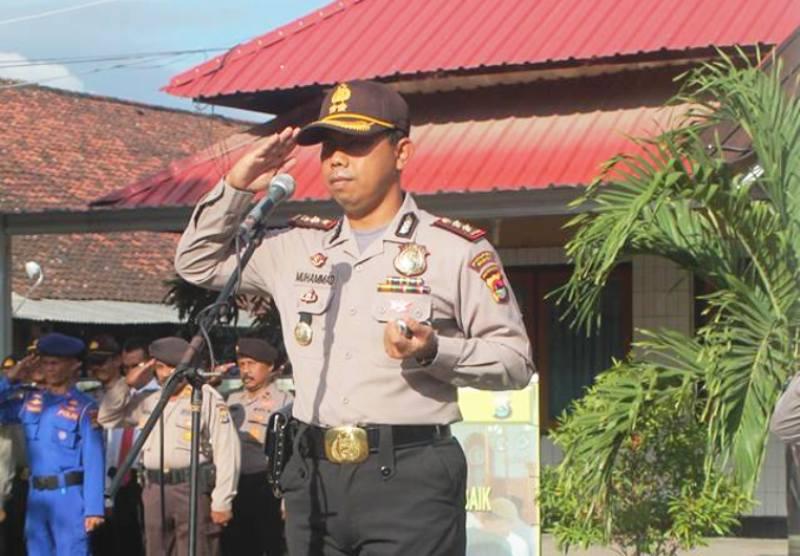 Kapolres Sumbawa, AKBP Muhammad SIK memimpin Gelar Pasukan Pengamanan Pilkades
