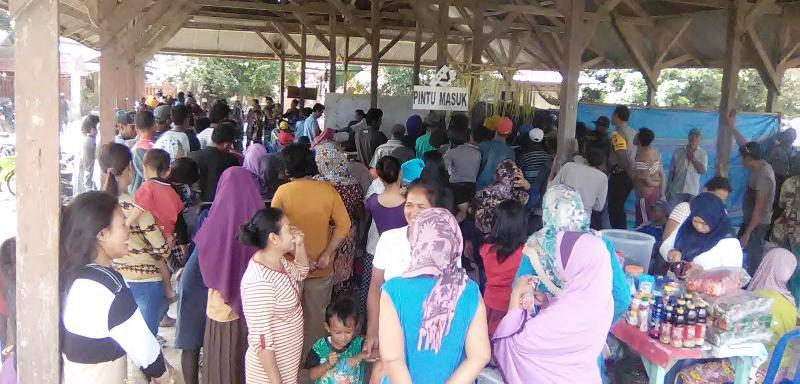 Suasana pencoblosan di TPS Desa Simu