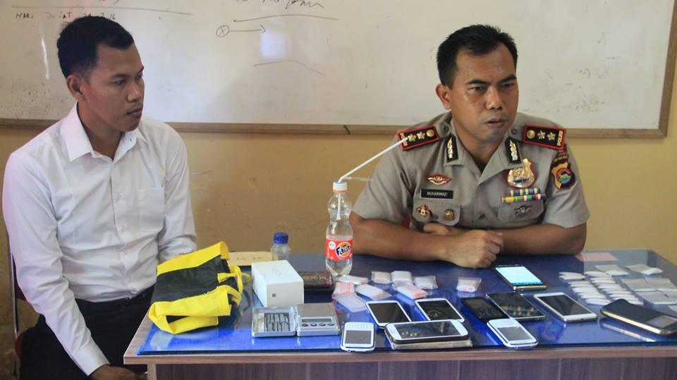 Kapolres AKBP Muhammad SIk didampingi Kasatres Narkoba, IPTU Muh Fatoni