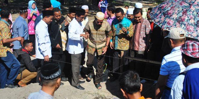 Peletakan Batu pertama pembangunan Masjid di SDIT SC