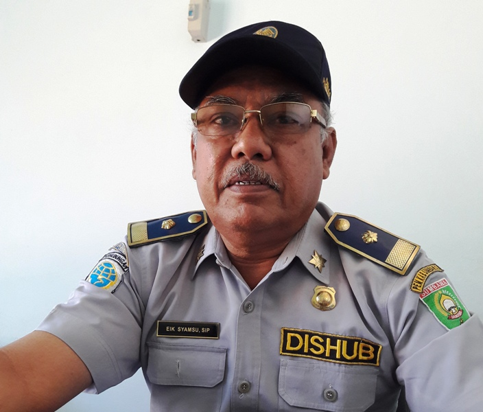 Syamsu Manawari SIP, Kabid Pengendalian Operasional Darat Dinas Perhubungan, Komunikasi dan Informatika (Dishubkominfo) Kabupaten Sumbawa