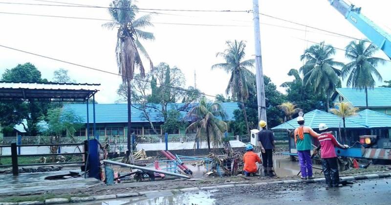 rekonstruksi pasca banjir di Kota Bima