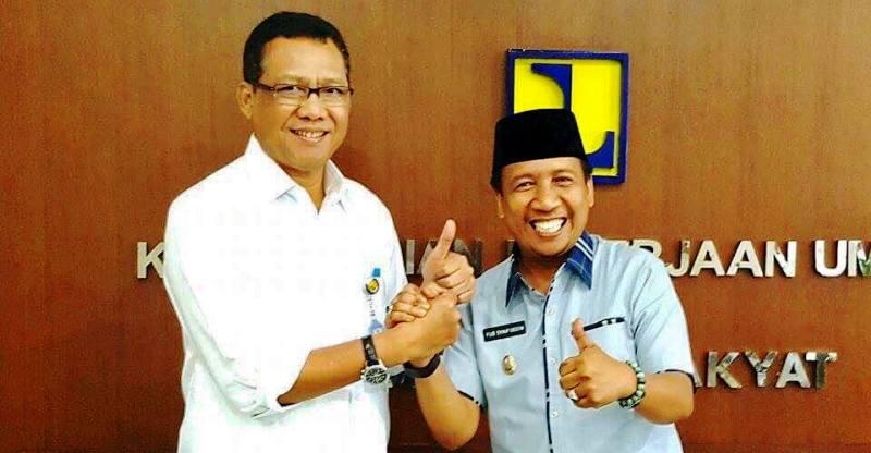 Wabup KSB Fud Syaifuddin ST dan Dirjen Sumber Daya Air, Imam Santoso